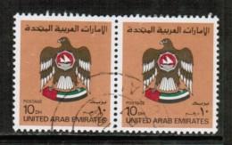 UNITED ARAB EMIRATES  Scott # 155 VF USED PAIR - United Arab Emirates