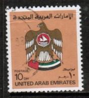 UNITED ARAB EMIRATES  Scott # 155  USED CREASE - Verenigde Arabische Emiraten