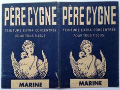 PÈRE CYGNE. Double Pochette, En Carton, De Teinture Pour Tissus. Vide. (8x11,5 Format Pochette Fermée) - Collections