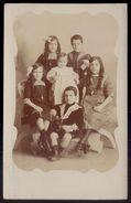 Postal Fotografico Grupo De Crianças Irmãos Da Familia MARQUES. Photographia Achilles LISBOA 1912 Portugal - Lisboa