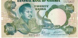 Nigeria P.26d 20 Naira 1984  Unc - Nigeria