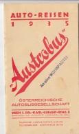 AUTOREISEN 1935 - Österreichische Autobusgesellschaft, Preiskatatlog 24 Seiten, Format 20,5 X 11,5 Cm - Europe