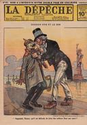 Caricature Satirique Anti-Kaïser Guillaume II Baron Zeppelin Conflit Perse Bulgarie (3 Scans) - Français