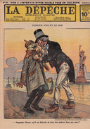 Caricature Satirique Anti-Kaïser Guillaume II Baron Zeppelin Conflit Perse Bulgarie (3 Scans) - Riviste & Giornali