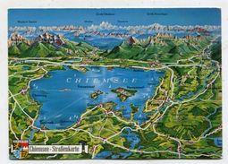 MAP - AK 311031 Germany - Chiemsee - Straßenkarte - Landkarten