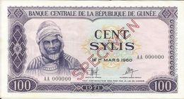 Billets Spécimens De Guinée Conakry Type P 19 Cent Sylis - Guinea