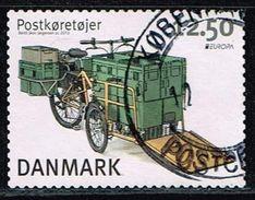 Dänemark 2013, Michel# 1737 O Europa (C.E.P.T.) 2013 - Postal Vehicles - Dänemark