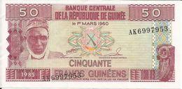 Billets Fautés De Guinée Conakry Type P 29 Cinquante Nouveaux Francs Guinéens - Guinea