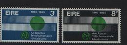 1965 The 100th Anniversary Of The UIT Mi. 170-171 MNH** - 1949-... République D'Irlande