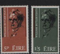 1965 The 100th Anniversary Of The Poet W.B.Yeats Mi. 172-173 SG #207-08  MNH** - 1949-... République D'Irlande