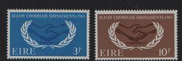 1965 Year Of International Co-operation Mi. 173-174 Scott 202-3 MNH** - 1949-... République D'Irlande