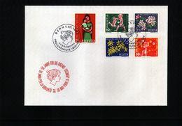 Switzerland 1962 Pro Juventute Michel 758-762  FDC - Pro Juventute