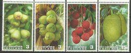 Thailand 2003 Int'l Letter Writing Week - Local Fruits Set Of 4 MNH - Thaïlande