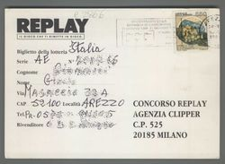 C2866 Italia ANNULLO 1989 VII CENTENARIO BATTAGLIA DI CAMPALDINO CARTOLINA CONCORSO REPLAY (m) - 6. 1946-.. Repubblica