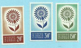 Cyprus - 1964 Europa Issue - Sc#244/246 - UHM - S.315 - Cyprus (Republic)