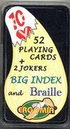 Jeu En Braille Et Pour Mal-voyant  54 Cartes ERGOMIA Carte à Jouer Cartes à Jouer - 54 Cards