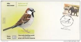 India  2012  House Sparrow  Birds  Special Cover   #  96232    Inde Indien - Sparrows