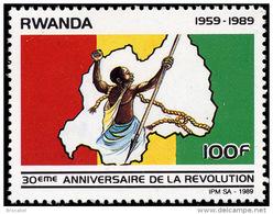 Rwanda 1363**  100Fr Revolution   MNH - 1980-89: Neufs