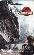 Jurassic Park Auf Telefonkarte Aus Neuseeland -1- - Kino