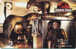 Jurassic Park Auf Telefonkarte Aus Neuseeland -2- - Kino