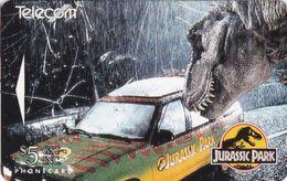 Jurassic Park Auf Telefonkarte Aus Neuseeland -3- - Kino