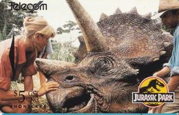 Jurassic Park Auf Telefonkarte Aus Neuseeland -4- - Kino