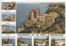 Souvenir De La Cote D'Emeraude Cancale Malo Parame Latte Servan Dinan Dinard Multivues Cp Vierge) - Frankreich