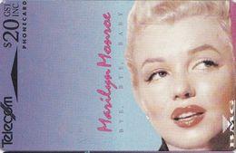 Marilyn Monroe Auf Telefonkarte Aus Neuseeland - Kino