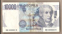 """Italia - Banconota Circolata Da £ 10.000 """"Volta"""" - 1989 - [ 2] 1946-… : Républic"""