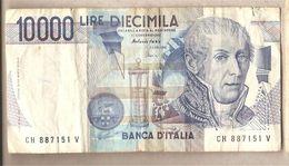 """Italia - Banconota Circolata Da £ 10.000 """"Volta"""" - 1997 - [ 2] 1946-… : Républic"""