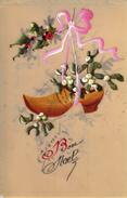 Thematiques 2018 Commemoration Fin De Guerre 1914 1918 CP Fantaisie Celluloïd Bon Noël Sabot - Guerre 1914-18