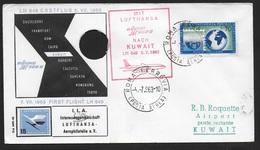 PRIMO VOLO LUFTHANSA - ROMA KUWAIT - BUSTA SPECIALE - 04.07.1963 - 6. 1946-.. Republic