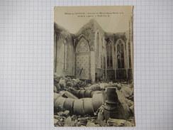 CPA - (88) - RARE - MENIL SUR BELVITTE - INTERIEUR DE L'EGLISE DEPUIS FEVRIER 1916 - R10351 - Altri Comuni
