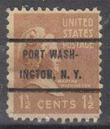 USA Precancel Vorausentwertung Preo, Bureau New York, Port Washington 805-72 - United States