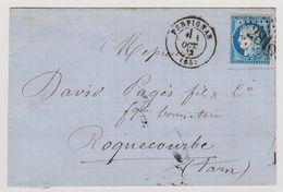 Cérès N° 60 A N° 133 D1 2éme état GC 2818 Sur Lettre 2 Scans - 1871-1875 Cérès