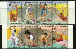 Thailand 1994 18th South East Asian Games 1st & 2nd Series In Strips Of 4 MNH - Thaïlande