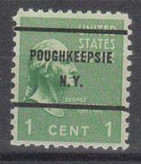 USA Precancel Vorausentwertung Preo, Bureau New York, Poughkeepsie 804-61 - United States