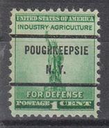 USA Precancel Vorausentwertung Preo, Bureau New York, Poughkeepsie 899-71 - United States