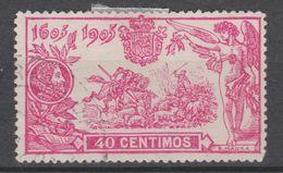 1905 SERIE QUIJOTE. 40 Cts USADO MUY BONITO. 51 €. VER. - 1889-1931 Regno: Alfonso XIII