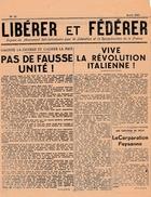 """WW2 - Août 1943 - JOURNAL CLANDESTIN """"LIBÉRER Et FEDERER"""" Organe Du Mouvement Révolutionnaire Pour La Libération Et - Historische Documenten"""