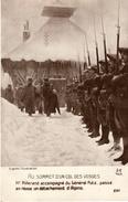 Thématiques 2018 Commémoration Fin De Guerre 1914 1918 Au Sommet Des Vosges Millerand Passe En Revue Les Alpins - War 1914-18