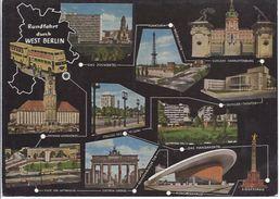 Berlin - Rundfahrt Durch Westberlin - Mehrbild (11)  ** AK5-091** - Duitsland