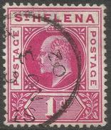 St Helena. 1902 KEVII. 1d Used. SG 54 - Saint Helena Island