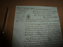 1813  Lettre Du GRAND JUGE --->Instruction Relative Aux Condamnés Envoyés Sous La Surveillance De La Haute Police...etc - Manuscrits