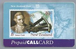 NZ.- TELECOM NEW ZEALAND POST. PREPAID CALLCARD James Cook. - New Zealand