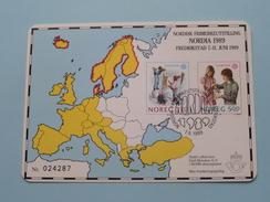 NORDISK FRIMERKEUTSTLLING NORDIA 1989 Frederikstad ( N° 024287 / See Photo Please ) ! - Collector Fairs & Bourses