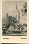 Berlin-Wilhelmshagen - Kirche - Foto-Ansichtskarte Handabzug - Verlag W. Bösenberg Erkner - Koepenick