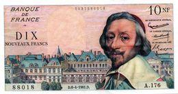 """10 NF """"RICHELIEU"""" - 6/4/1961 (SUP) - 1959-1966 ''Nouveaux Francs''"""
