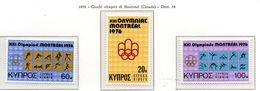 PIA - CIPRO  GRECA - 1976 : Giochi Olimpici Di Montreal -  (Yv  448-50) - Estate 1976: Montreal