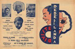 """07231 """"RIVISTE DEDE' DI LANDA - STAGIONE 1935 - 1936 - COMPAGNIA DI SPETTACOLI COMICI""""  LOCANDINA ORIG. - Posters"""